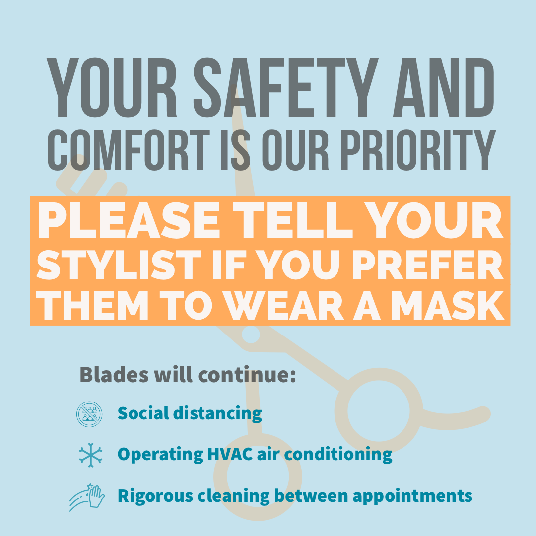 Ask your stylist to wear a mask
